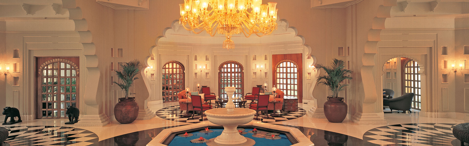 IndienTeaser Lobby Oberoi Udaivilas